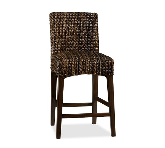 Seagrass Barstool Pottery Barn throughout Seagrass Bar Stool
