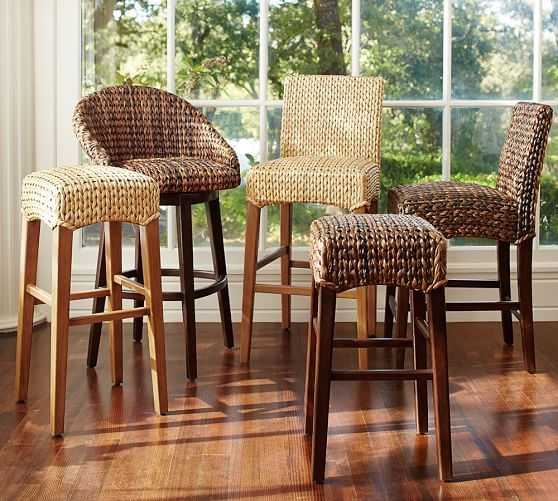 Seagrass Barstool Pottery Barn within Seagrass Bar Stool