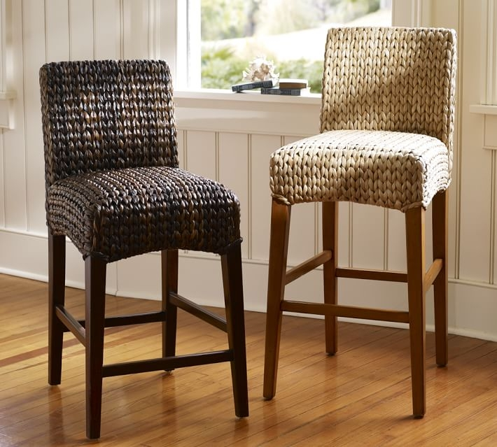 Seagrass Barstool Pottery Barn within Seagrass Bar Stools