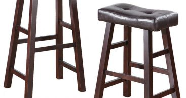 Set Of 2 Barstools Stools Faux Leather Saddle Seat Traditional intended for The Amazing and also Interesting saddle seat bar stools regarding Your home