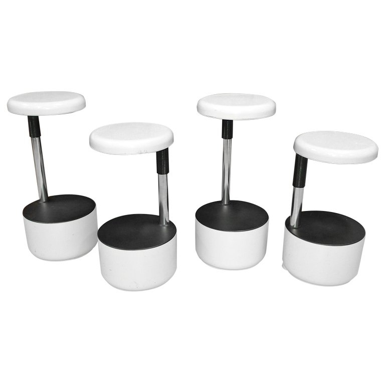 Set Of 4 Quotgolfquot Bar Stools Roberto Lucci And Paolo Orlandini throughout Stylish as well as Stunning bar stool set of 4 with regard to Your home