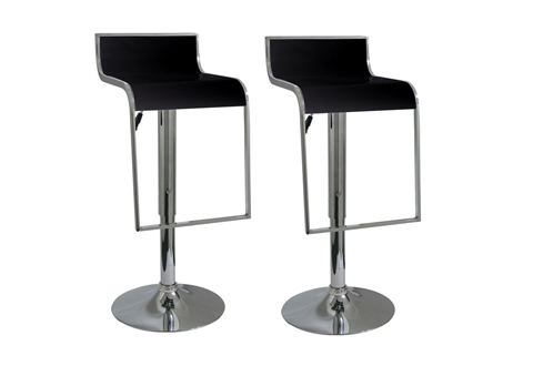 Set Of Two Square Bar Stools Sharper Image with regard to Square Bar Stools