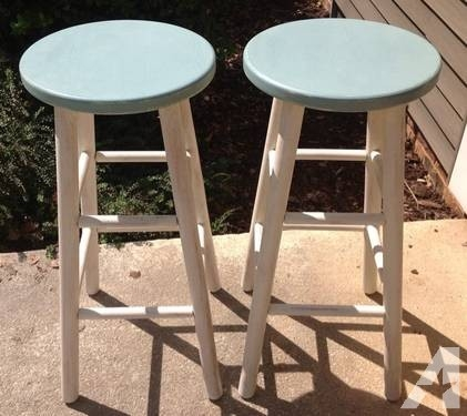 Shab Chic Wooden Bar Stools For Sale In Seneca South Carolina throughout shabby chic bar stools with regard to Warm