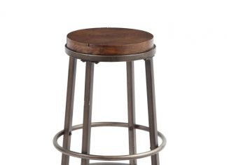 Signature Design Ashley Glosco 24 Inch Wood And Metal Bar Stool intended for 24 Metal Bar Stools
