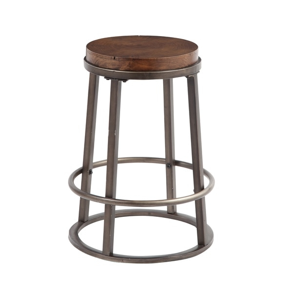 Signature Design Ashley Glosco 24 Inch Wood And Metal Bar Stool pertaining to 24 inch metal bar stools pertaining to  Residence