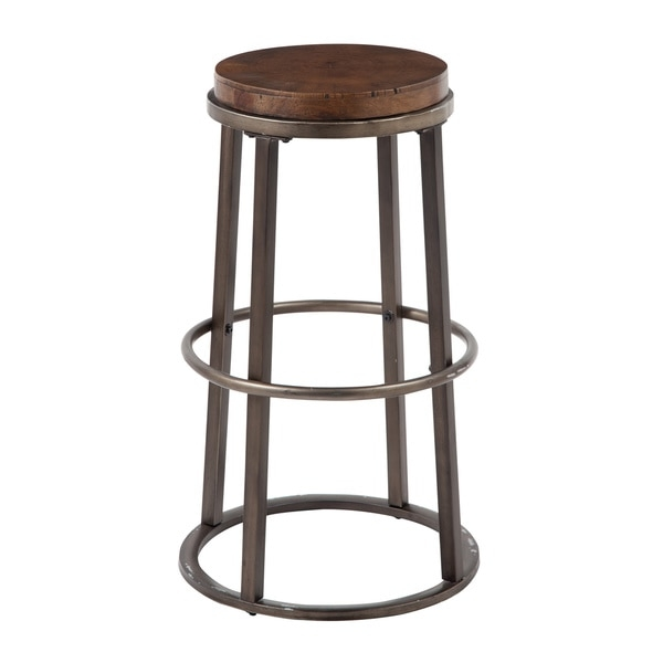 Signature Design Ashley Glosco 30 Inch Wood And Metal Bar Stool with The Elegant  iron and wood bar stools for Your house