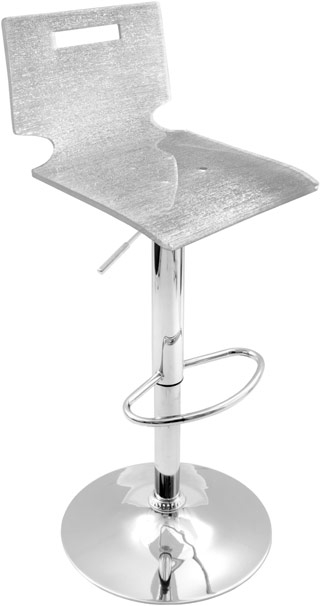 Silver Sparkle Barstool From The Bar Stools Ii Collection At inside Silver Bar Stools