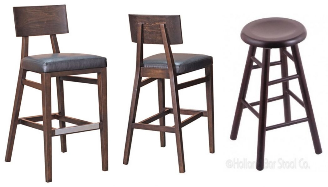 Simple Black Glossy Teak Wood Backless Bar Stool With Round Seat in Elegant in addition to Attractive 32 inch seat height bar stools for Inspire