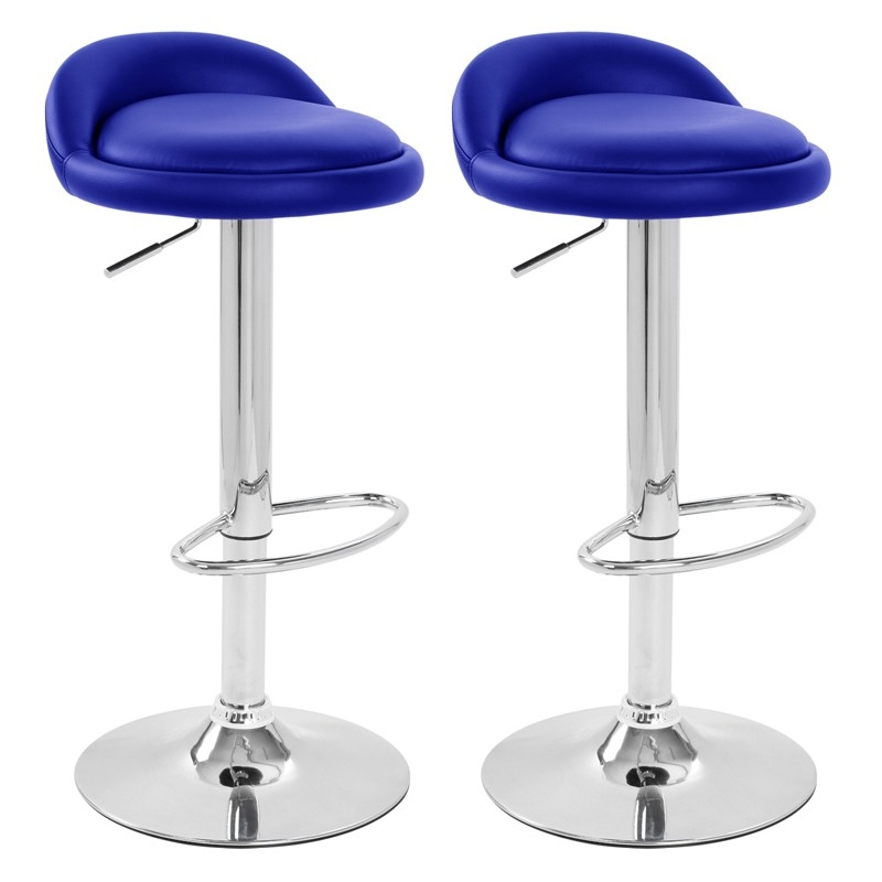 Sofia Pair Of Faux Leather Blue Kitchen Bar Stools with regard to Amazing in addition to Stunning blue bar stool for Wish