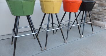 Sold To Sarajune Sold Vintage Chrome Swivel Bar Retrovintageous throughout Retro Swivel Bar Stools