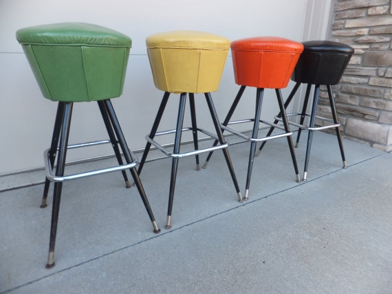 Sold To Sarajune Sold Vintage Chrome Swivel Bar Retrovintageous with regard to The Elegant and Gorgeous vintage swivel bar stools for Comfy