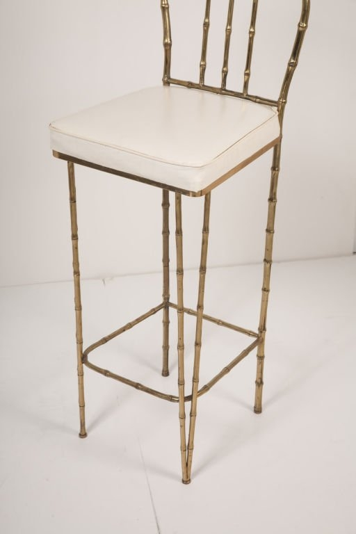 Solid Brass Framed Faux Bamboo Bar Stools La Barge At 1stdibs with regard to Bamboo Bar Stools