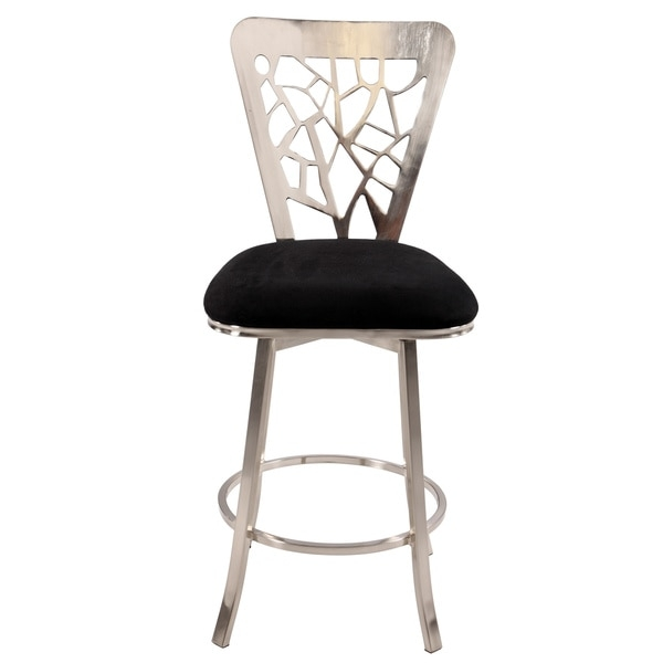 Somette 30 Inch Laser Cut Back Memory Swivel Bar Stool 16130528 with regard to The Elegant along with Lovely 30 inch swivel bar stools with back regarding Residence