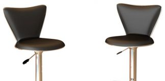 Sonax Corliving Tall Back Bar Stool In Black Leatherette Set Of 2 in The Awesome  tall bar stools with regard to Comfy