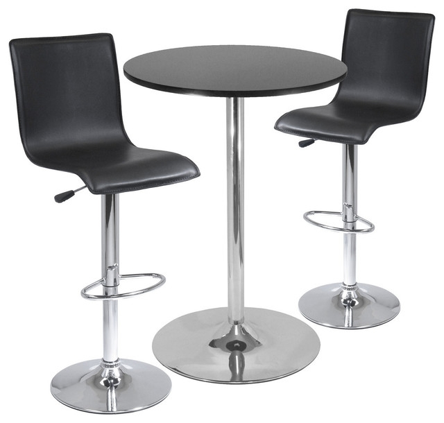 Spectrum 3 Piece Pub Table Set 28quot Round Table With 2 L Shape intended for Stylish as well as Gorgeous bar table and stools with regard to Invigorate