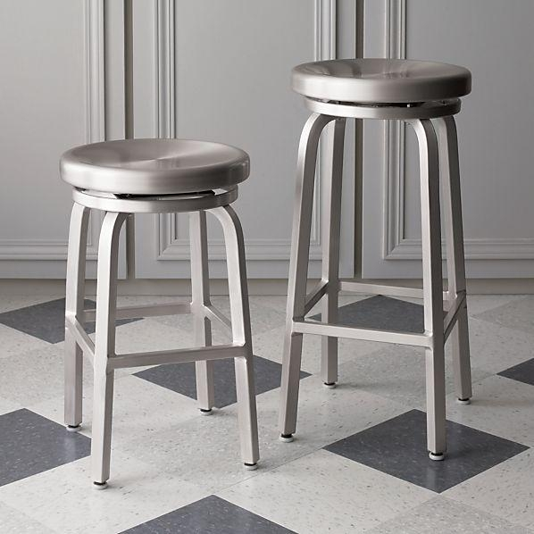 Spin Barstools Crate And Barrel pertaining to aluminum swivel bar stools for Your own home