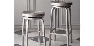 Spin Swivel Backless Bar Stools And Cushion Crate And Barrel regarding Swivel Backless Bar Stools