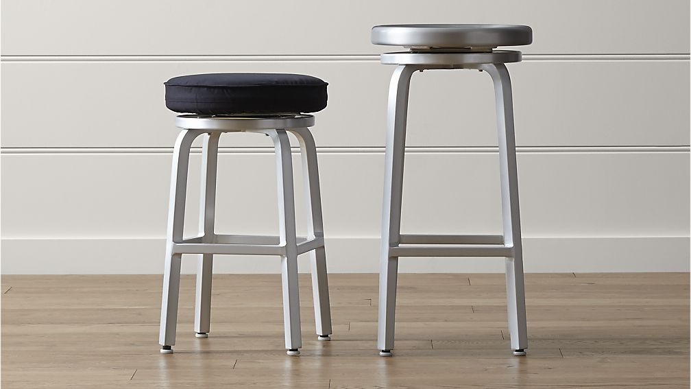 Spin Swivel Backless Bar Stools And Cushion Crate And Barrel with regard to Backless Swivel Bar Stools
