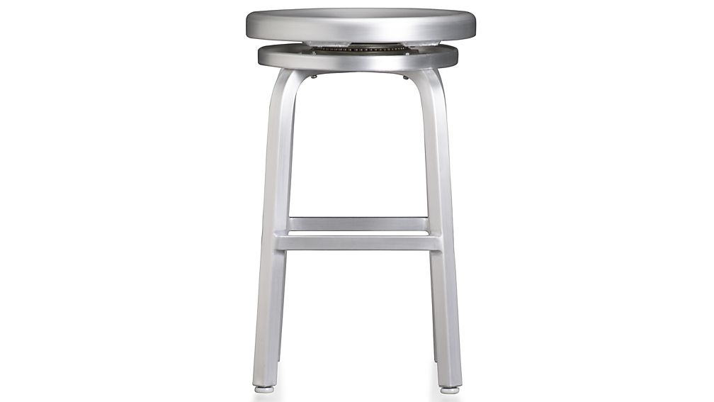 Spin Swivel Backless Counter Stool Crate And Barrel inside Brilliant  24 backless bar stools for  Property