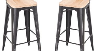 Stackable Steel Bar Stools With Ash Wood Seat Set Of 2 Antique throughout Stackable Bar Stools