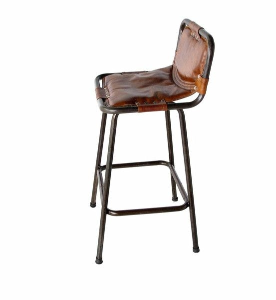 Steel Frame Leather And Steel On Pinterest for Leather Bar Stools With Back