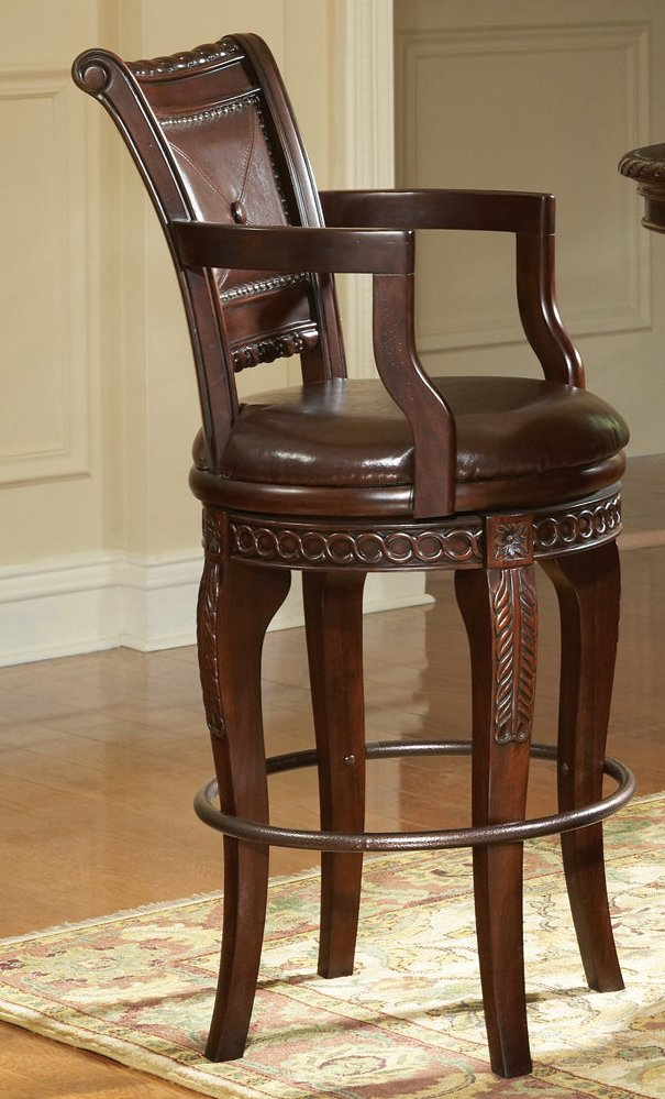 Steve Silver Antoinette Swivel Barstool Efurniture Mart with regard to 30 Swivel Bar Stools