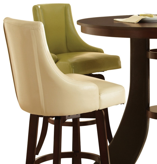 Steve Silver Brooks Swivel Bar Stool With Green Vinyl Upholstery for Upholstered Swivel Bar Stools