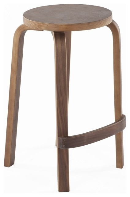 Stilnovo Round Solid Wood Backless Counter Stool Bar Stools And intended for backless wooden bar stools regarding Inspire