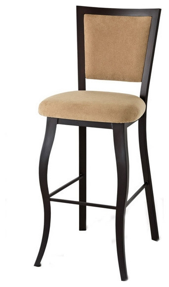 Stylish High Back Non Swivel Stool Counter Height 26quot Modern throughout non swivel bar stools regarding Your own home