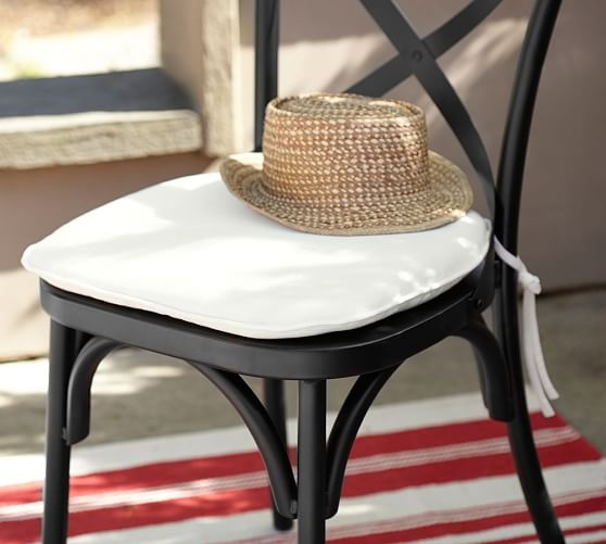 Sunbrella Bistro Chair Amp Barstool Cushion Pottery Barn pertaining to bar stool cushions for Encourage