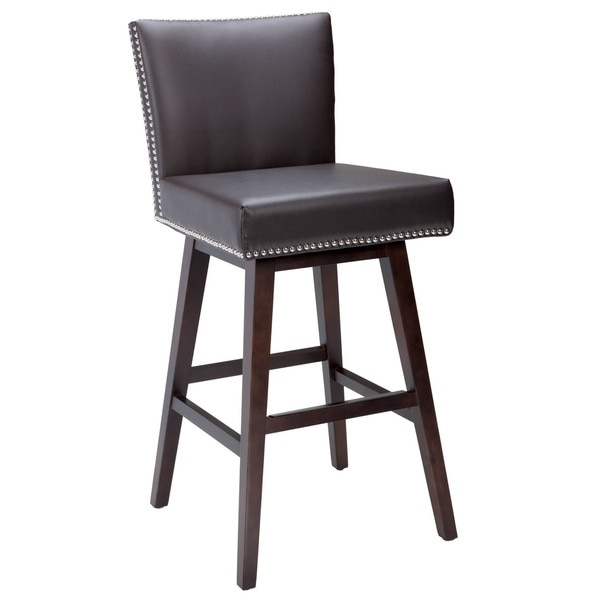 Sunpan 395west39 Vintage Leather Swivel Barstool 16759379 pertaining to The Awesome and also Beautiful swivel leather bar stools pertaining to Residence