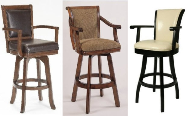 Swivel Bar Stools With Arms Whereibuyit intended for Bar Stools With Arms