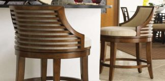 Swivel Bar Stools With Back Made Of Wood And Metal throughout swivel bar stools with backs regarding Your home