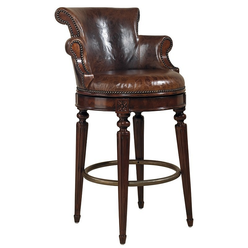 Swivel Barstool Venetian Regal Leather Upholstery Northgate throughout The Stylish  leather bar stools swivel pertaining to Your own home