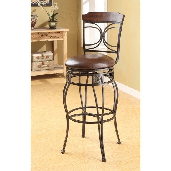 Swivel Espresso Bar Stool Set Of 2 14314066 Overstock with regard to espresso bar stools for  House