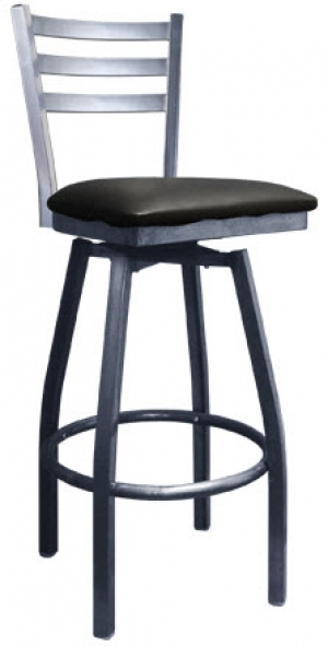 Swivel Ladder Back Metal Barstool with regard to metal swivel bar stools with back intended for Comfortable