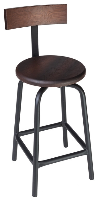 Swivel Pub Stool With Back 30quot H Contemporary Bar Stools And pertaining to 30 Bar Stools With Back