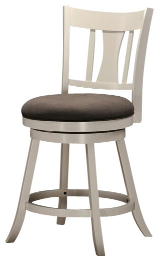 Tabib Collection White Finish Wood Counter Height Swivel Bar Stool pertaining to counter height swivel bar stools for Really encourage