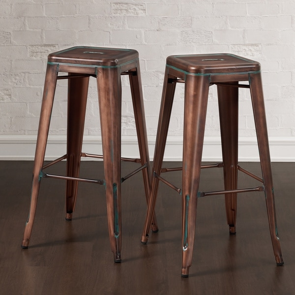 Tabouret 30 Weathered Copper Bar Stool Set Of 2 6dac41cf 2fc5 432b A6c2 915b57eb66b6600 within Stylish and Gorgeous tabouret bar stools pertaining to Your house