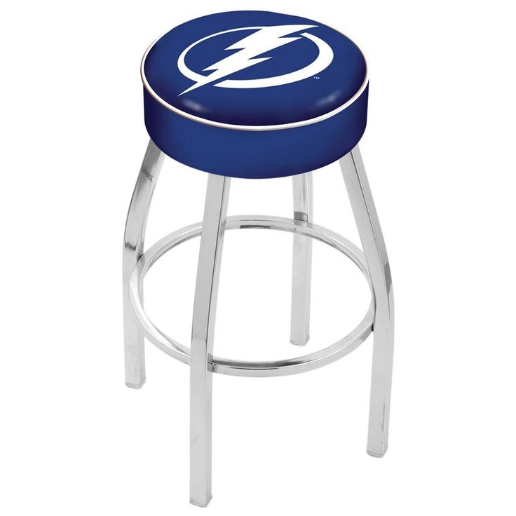 Tampa Bay Lightning Chrome Base Swivel Bar Stool Tampa Bay with regard to bar stools tampa for Comfy