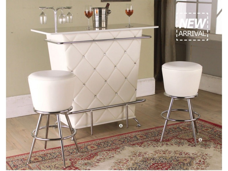 Tashara White Bar Stool Set Of 2 within The Most Stylish and Interesting bar stool sets of 2 with regard to Home