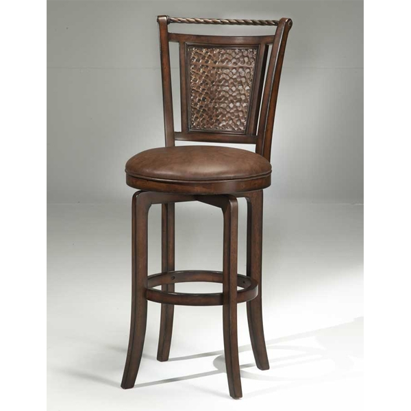 The Norwood Brown Bar Stool Hillsdale Family Leisure intended for Brown Bar Stools