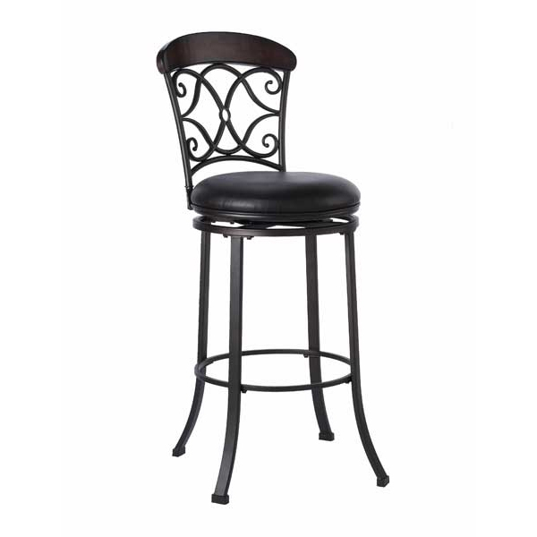 The Trevelian Bar Stool Hillsdale Family Leisure intended for black metal bar stools swivel regarding  Property