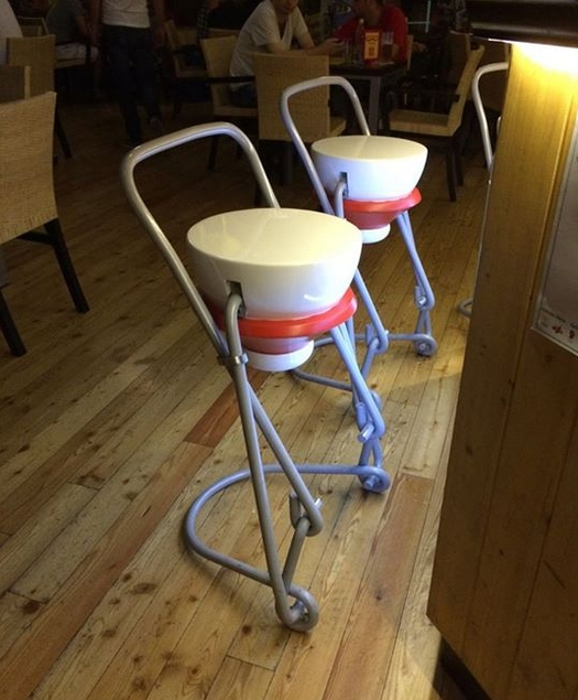 These Grolsch Bottle Top Bar Seats In An Italian Pub Might Be The within cool bar stools regarding Provide House