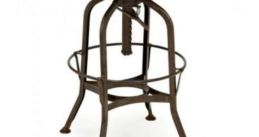 Toledo Adjustable Rustic Bar Stool 16827728 Overstock intended for Bar Stools Adjustable