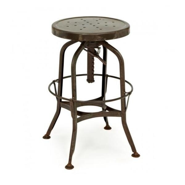 Toledo Adjustable Rustic Bar Stool 16827728 Overstock with adjustable bar stool for Property