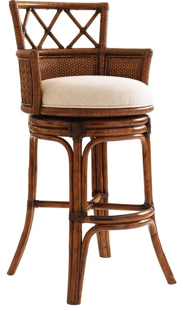 Tommy Bahama Home Bali Hai Kamala Bay Swivel Bar Stool Tropical regarding Incredible in addition to Stunning tommy bahama bar stools intended for Invigorate