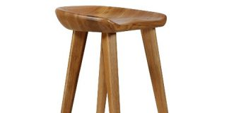 Tractor Carved Wood Bar Stool Natural Contemporary Bar Stools throughout Natural Wood Bar Stools
