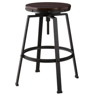 Tractor Swivel Stool In Black And Brown intended for Swivel Adjustable Bar Stools