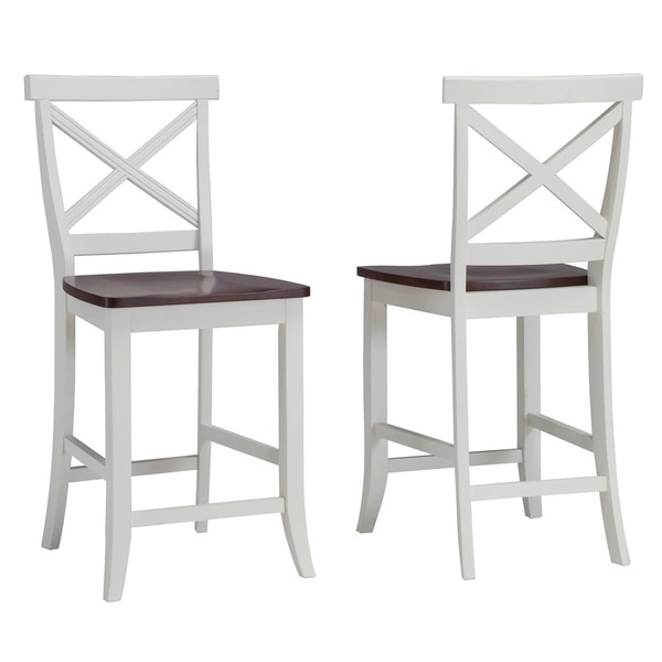 Traditions White And Cherry 24 Inch Bar Stool 14192752 with 24in Bar Stools
